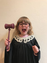 Load image into Gallery viewer, RBG Ruth Bader Ginsburg Kid's Supreme Court Justice Robe & Costume Kit