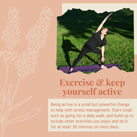 Infographic exercising for self-care