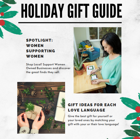 Free Flow Botanicals  Languages of Love Holiday Gift Guide Female Women owned small business