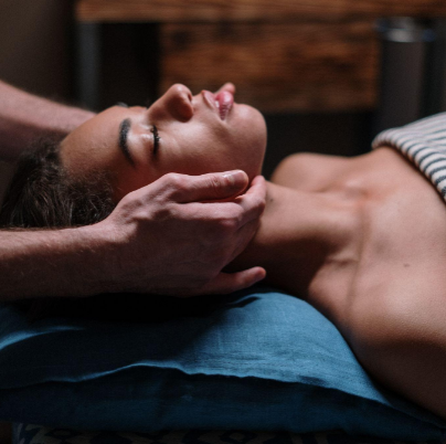 lymphatic drainage massage self care relax facial massage