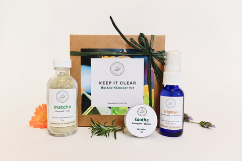 Keep it Clear Maskne skincare set support plant-based gift set