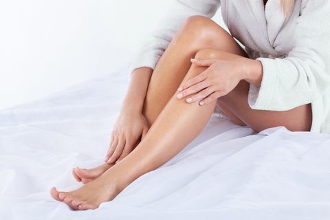moisturizing skin and legs
