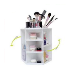 360 Degree Rotating Plastic Storage  Organiser
