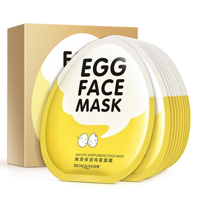 10pcs Egg Facial Masks