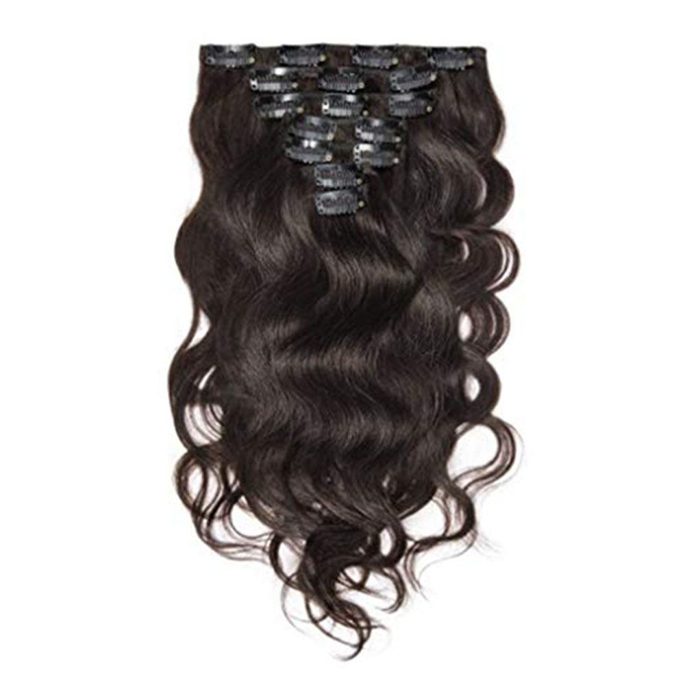 Remy Clip In Human Hair 7Pcs/Set 100g Thick Full Head Dark Brown Color Clip In Hair Extensions