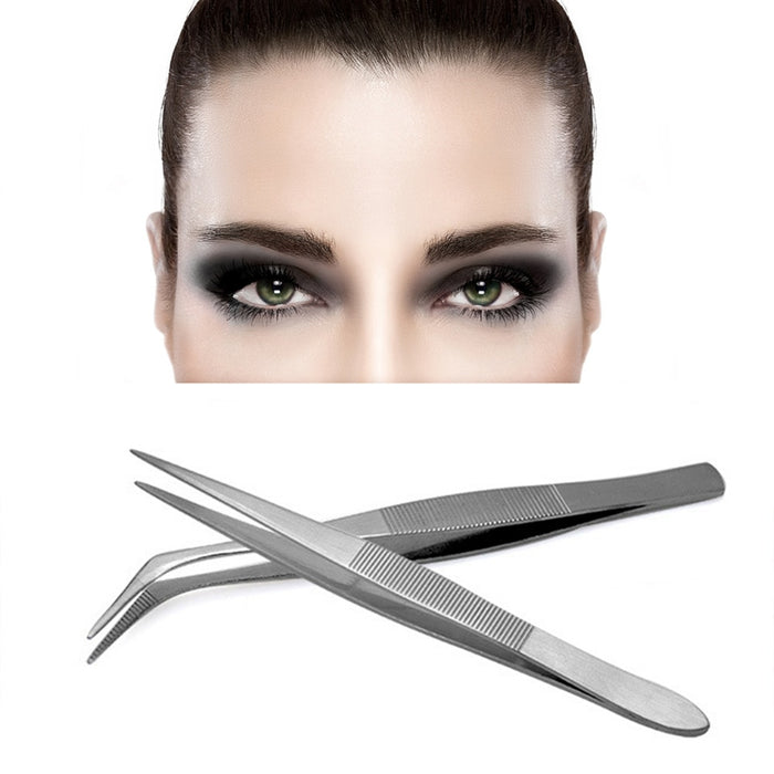 2pcs Stainless Steel Tweezers