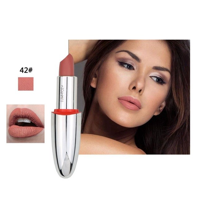 Matte Lipstick Velvet Moisturizer For Women Lips Cosmetics Waterproof Long Lasting Matte Makeup Lipstick