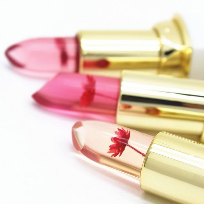Transparent Flower Jelly Lipsticks