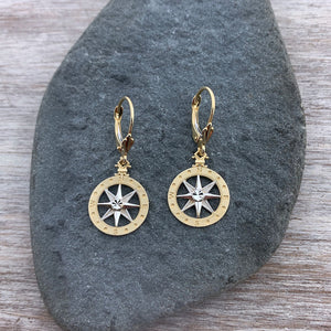 Compass Rose Drop Earrings