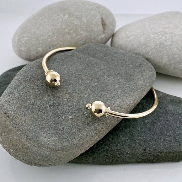 All 14k Gold Cape Cod Cuff Bracelet