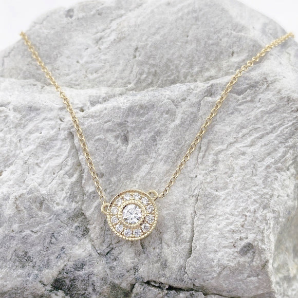 Diamond Circles Necklace