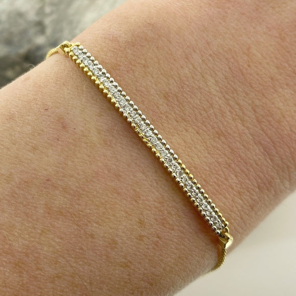 Diamond Bar Bolero Bracelet