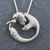 14k + Diamond Mermaid Pendant