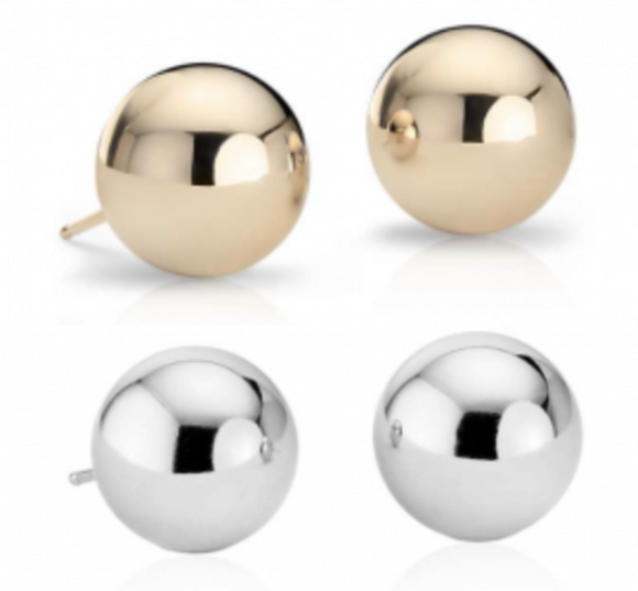 Cape Cod Single Ball Stud Earrings