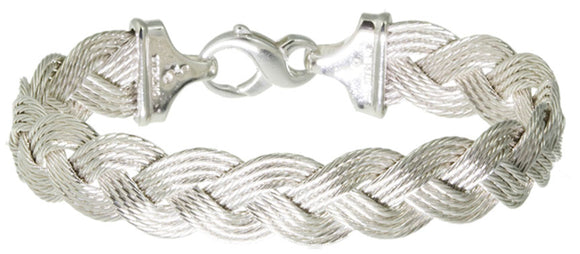 Sterling Braided Nautical Rope Bracelet (4 Strand)