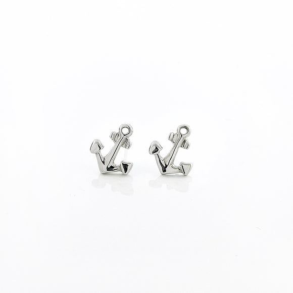 Petite Anchor Stud Earrings