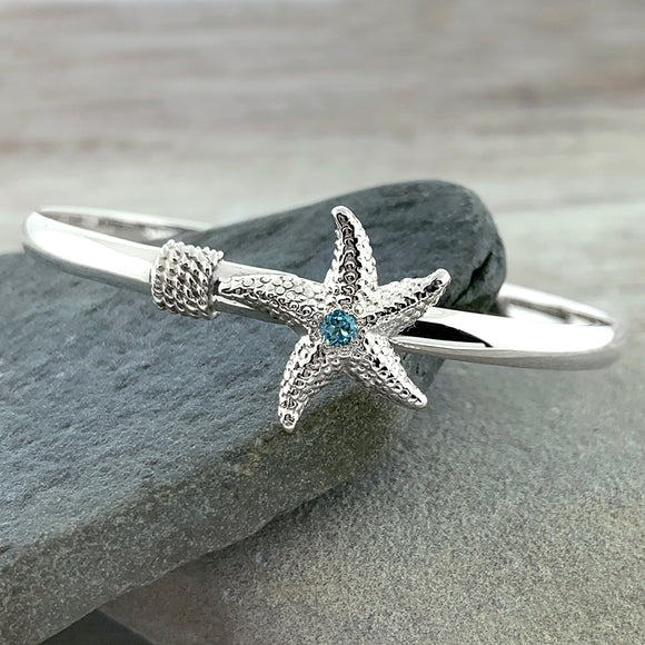 Starfish Bracelet with Blue Topaz