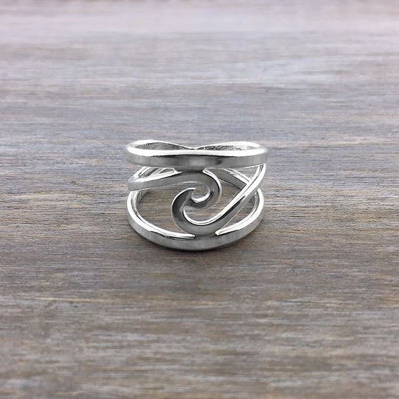 Sterling Silver Wave Band