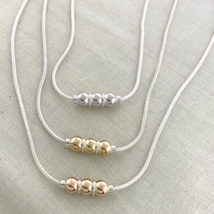 Cape Cod Triple Ball Necklace