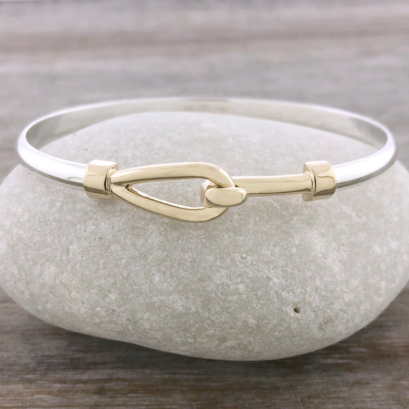 Two Tone Simple Hook Bracelet