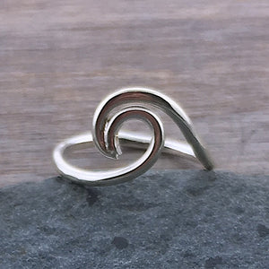 Sterling Silver Rip Curl Wave Ring