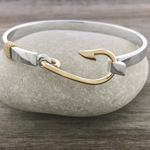 Two Tone Fisherman's Hook Bracelet
