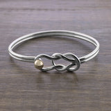 Two Tone Fisherman's Knot Bracelet