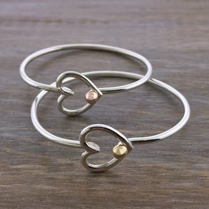 Cape Cod Heart Hook Bracelet Rose Gold Yellow Gold