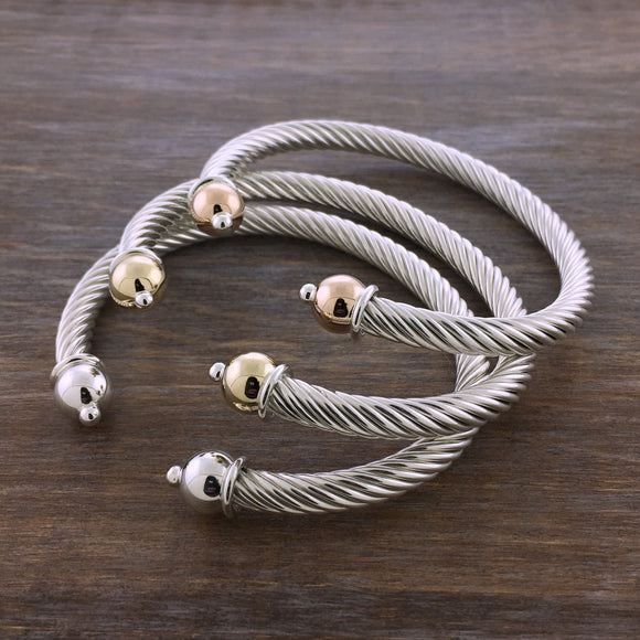 Cape Cod Heavy Twist Cuff Bracelet