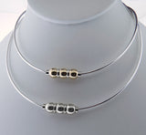 Cape Cod Collar Omega Necklaces - Silver and Gold