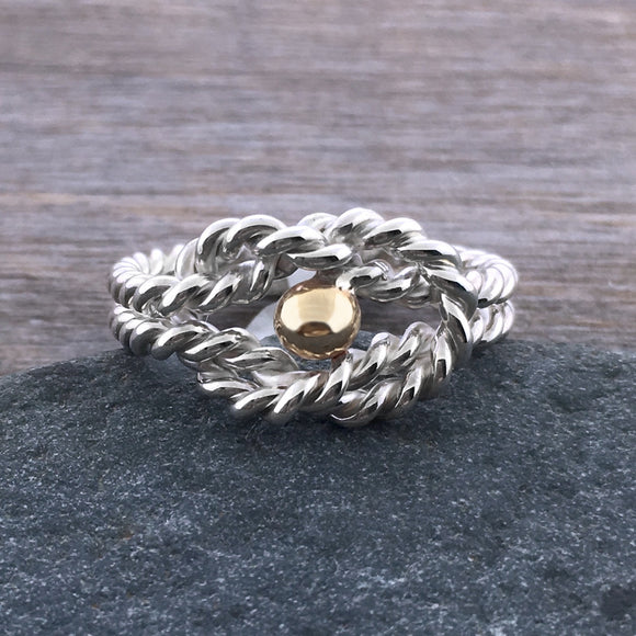 Cape Cod Twisted Rope Knot Ring