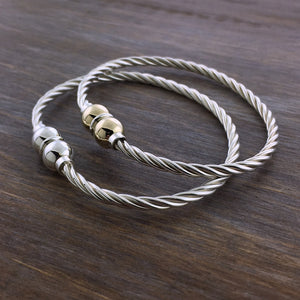 Cape Cod Double Ball Twist Bracelet