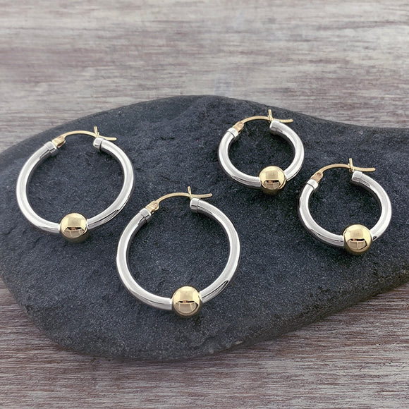 Cape Cod Classic Single Ball Hoops - Two Tone