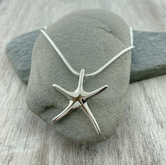 New Online! Dancing Starfish Necklace