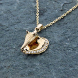 14k + Diamond Conch Shell Necklace