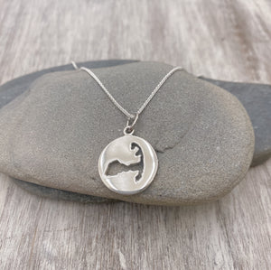 New! Sterling Silver Cape Cod Disc Necklace