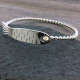 Twisted fish cape cod hook bracelet