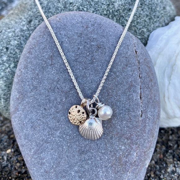Sea Treasure Charm Necklace