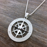 Extra Large Smooth Compass Rose Necklace