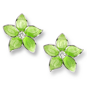 Green Stephanotis Earrings