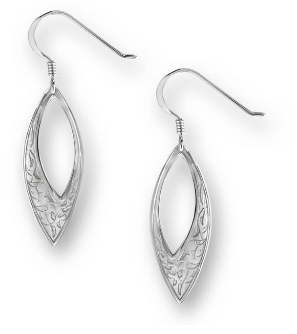 Sterling Silver Marquis Wire Earrings