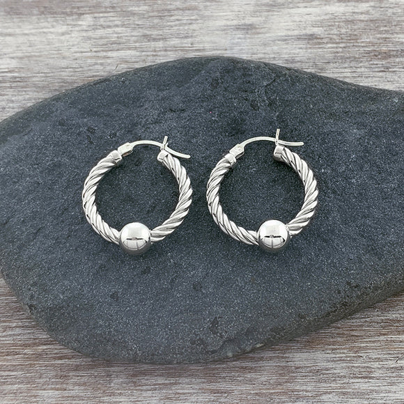 Sterling Silver Cape Cod Twist Hoops