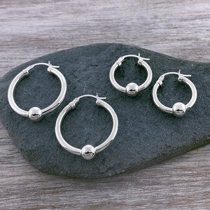 Cape Cod Classic Single Ball Hoops - All Sterling