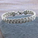 Sterling Braided Nautical Rope Bracelet (3 Strand)