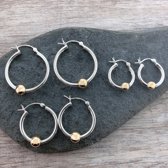Two Tone Cape Cod Thin Hoops