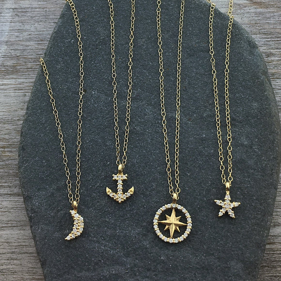 Petite Diamond Necklaces