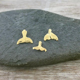 Tiny Gold Whale Tail Pendant