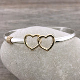 Double Heart Hook Bracelet