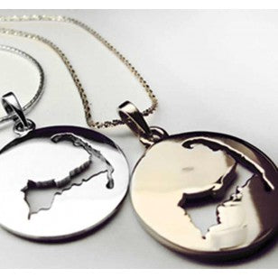 Heavy Cape Cod Map Disc Pendant
