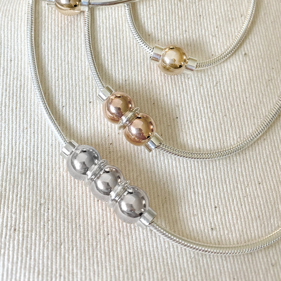 Cape Cod Double Ball Necklace